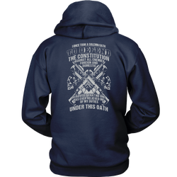 I once took a solemn oath to defend..., Unisex Hoodie