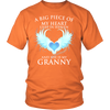Granny, A big piece of my heart lives in heaven., District Unisex Shirt