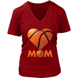 Basketball Mom shirt., District Womens V-Neck