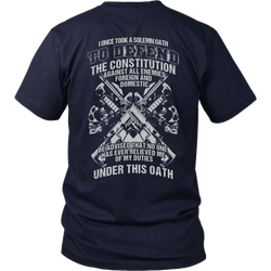 I once took a solemn oath to defend..., District Unisex Shirt