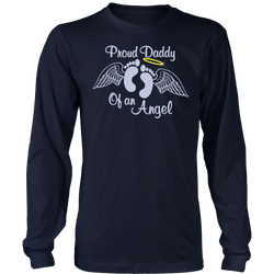 Proud Daddy of an angel., District Long Sleeve Shirt