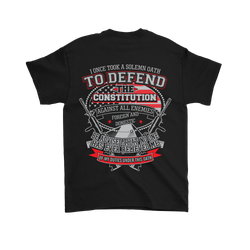 I once took a solemn oath., Gildan Mens T-Shirt