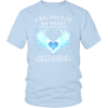 Grandsons, A big piece of my heart lives in heaven., District Unisex Shirt