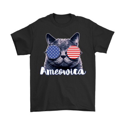 Ameowica the Great - Funny patriotic.,   Gildan Mens T-Shirt