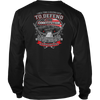 I once took a solemn oath., District Long Sleeve Shirt