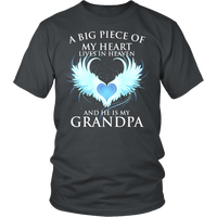 Grandpa, A big piece of my heart lives in heaven., District Unisex Shirt