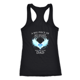 A big piece of my heart lives in heaven. He is my Dad., Next Level Racerback Tank