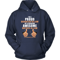 Daughter-in-law of a freaking awesome Mother-in-law., Unisex Hoodie