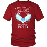 POPPY, A big piece of my heart lives in heaven., District Unisex Shirt