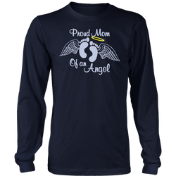 Proud Mom of an angel., District Long Sleeve Shirt