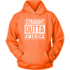 Straight outta America., Unisex Hoodie