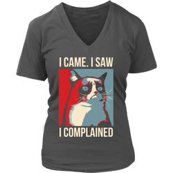 I came. I saw. I complained., District Womens V-Neck
