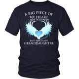 Granddaughter, A big piece of my heart lives in heaven., District Unisex Shirt