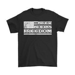 BEER, BOOBS & FREEDOM!., Gildan Mens T-Shirt