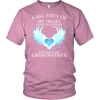 Grandfather, A big piece of my heart lives in heaven., District Unisex Shirt