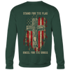 Stand for the flag. Kneel for the cross Crewneck Sweatshirt