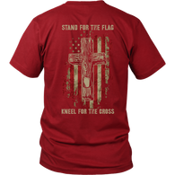 Stand for the flag. Kneel for the cross District Unisex Shirt