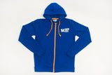Long Sleeve Full Zipper Hoodie Blue