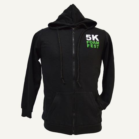 Unisex 5K Foam Fest 'Get Filthy Clean' Full Zip Hoodie