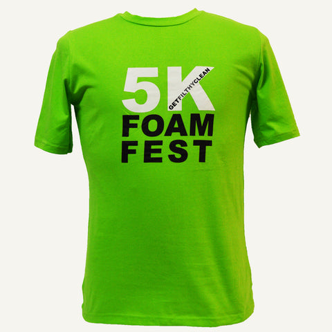 Mens Foam Fest 'Get Filthy Clean' T Shirt - Green