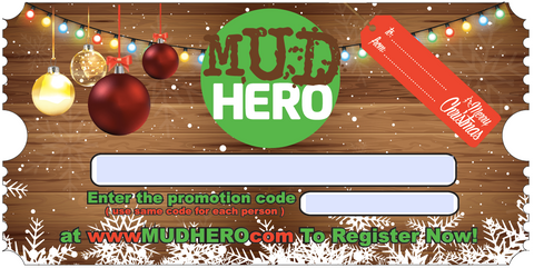 Mud Hero Holiday Gift Card