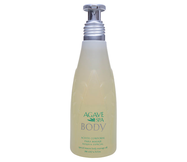 Special Reserve Agave Body Massage Oil <P> Soothing Relaxation - Agave Nectar Spa Natural Skincare  - 1