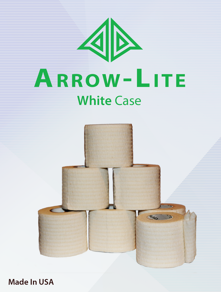 athletic tape, Arrow-Lite White Stretch Tape (Case), Arrowhead Athletics