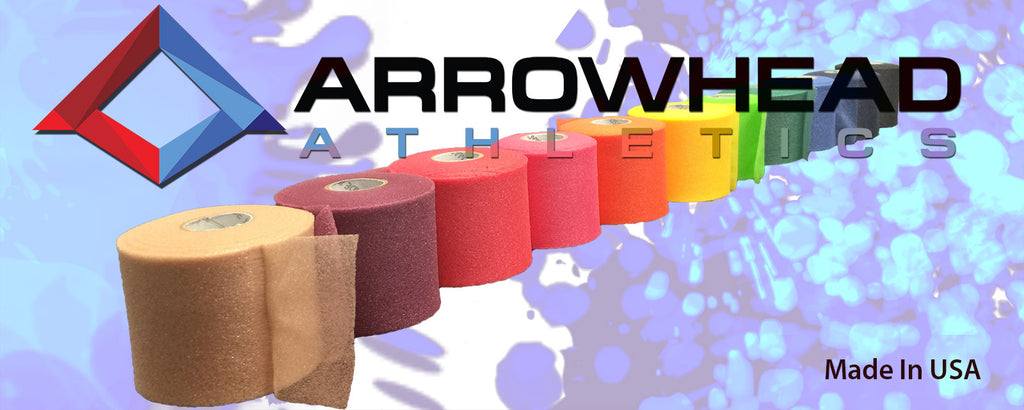 athletic tape, Premium Color PreWrap, Arrowhead Athletics