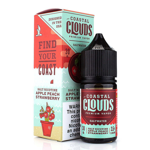 Apple Peach Strawberry by Coastal Clouds Salt 30ml Nicotine Salt Coastal Clouds Salt