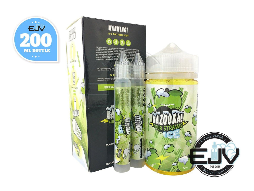 Green Apple Sour Straws by Bazooka Sour Straws 200ml Discontinued Discontinued