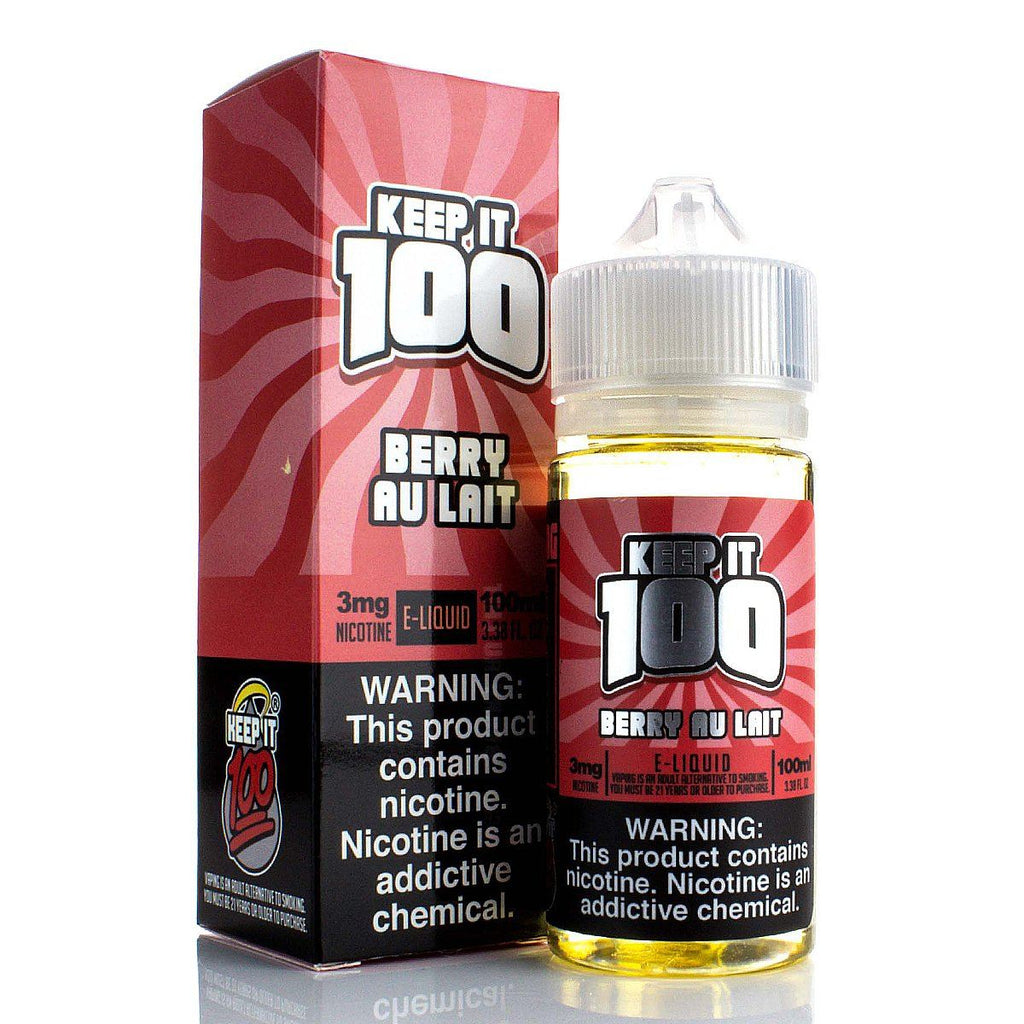Berry Au Lait by Keep It 100 E-Juice 100ml E-Juice Keep It 100