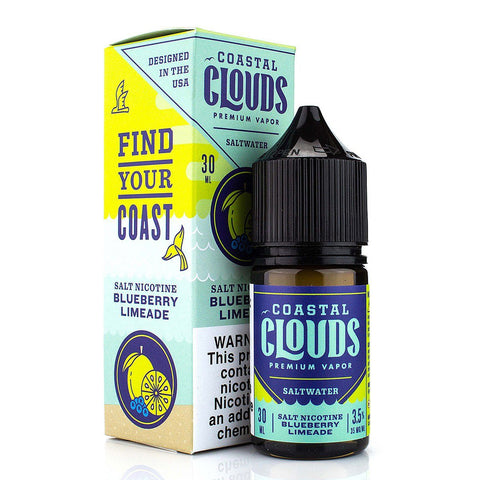 Blueberry Limeade by Coastal Clouds Salt 30ml Nicotine Salt Coastal Clouds Salt