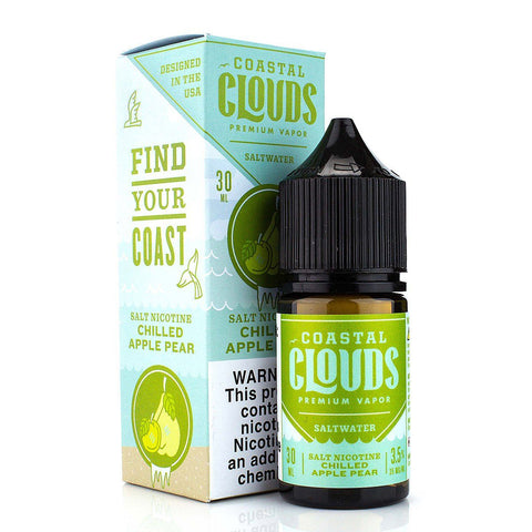 Chilled Apple Pear by Coastal Clouds Salt 30ml Nicotine Salt Coastal Clouds Salt
