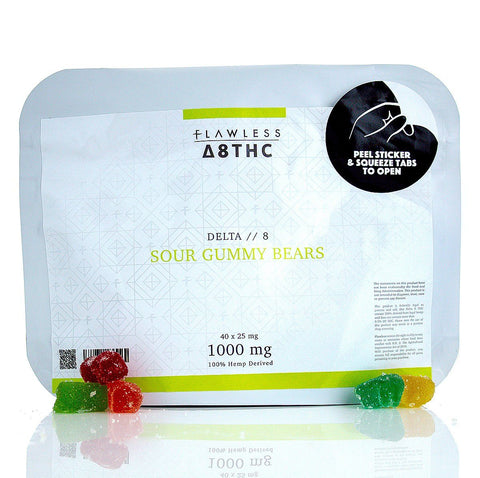 Flawless Delta 8 Sour Gummy Bears Delta 8 Flawless Delta 8