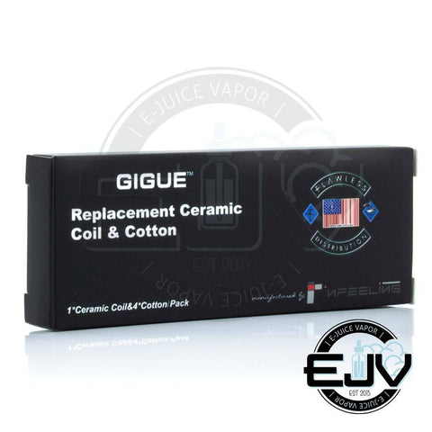 Gigue Replacement Ceramic Coil & Cotton - (Clearance) Replacement Coils Gigue