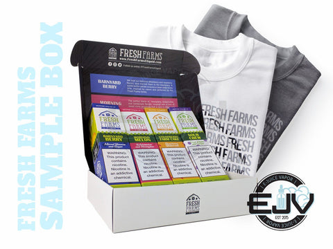 Fresh Farms E-Liquid *Promotion* - T-Shirt & Sample Box 240ml E-Juice Fresh Farms E-Liquid