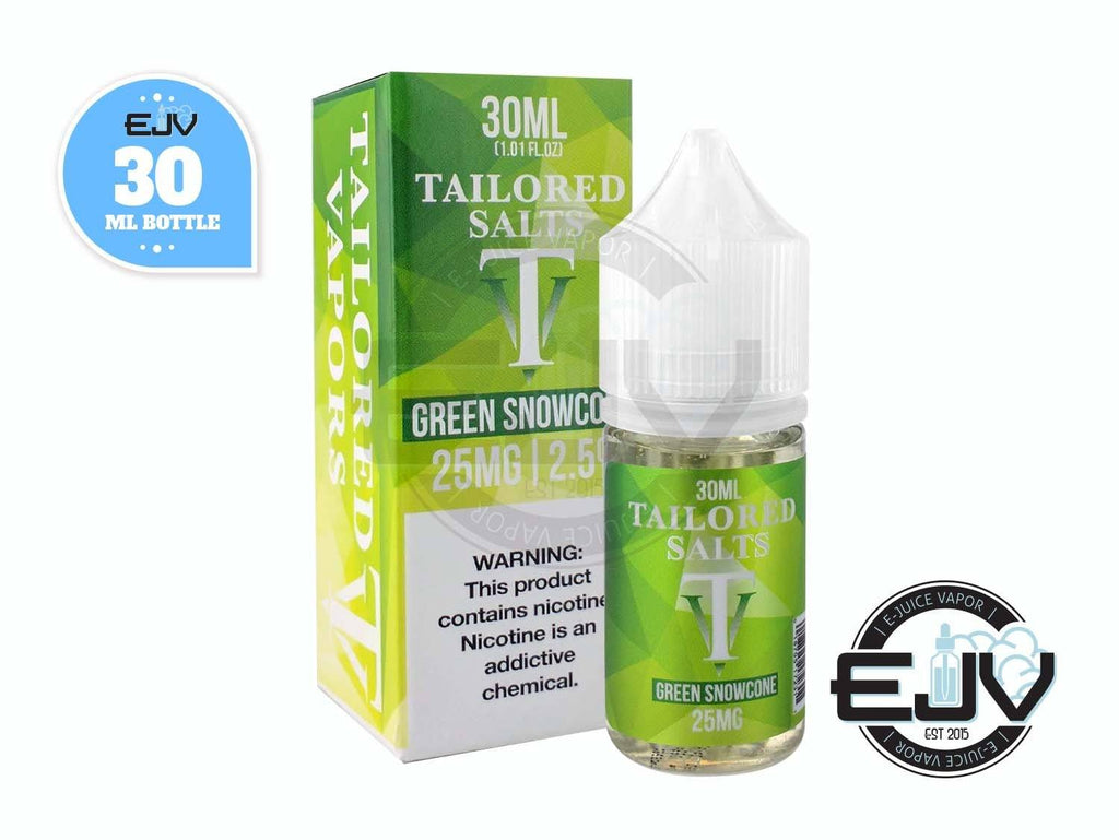 Green Snowcone by Tailored Salts 30ml Clearance E-Juice Tailored Salts