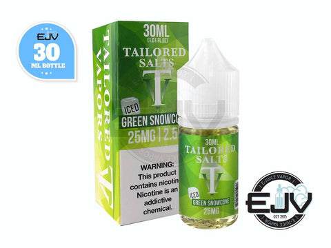 Green Snowcone Iced by Tailored Salts 30ml