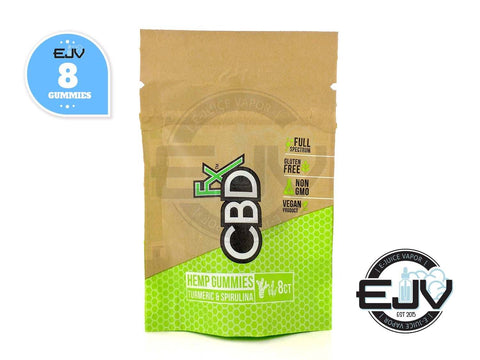 CBDfx Gummies with Turmeric & Spirulina - 40mg - 8CT Pouch CBD CBDfx