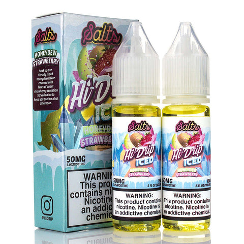 Iced Honeydew Strawberry by Hi-Drip Salts 30ml Nicotine Salt Hi Drip Salts