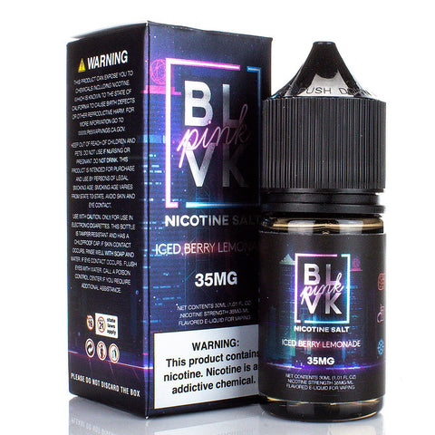 Iced Berry Lemonade by BLVK Pink Salt Series 30ml Nicotine Salt BLVK Unicorn Salt