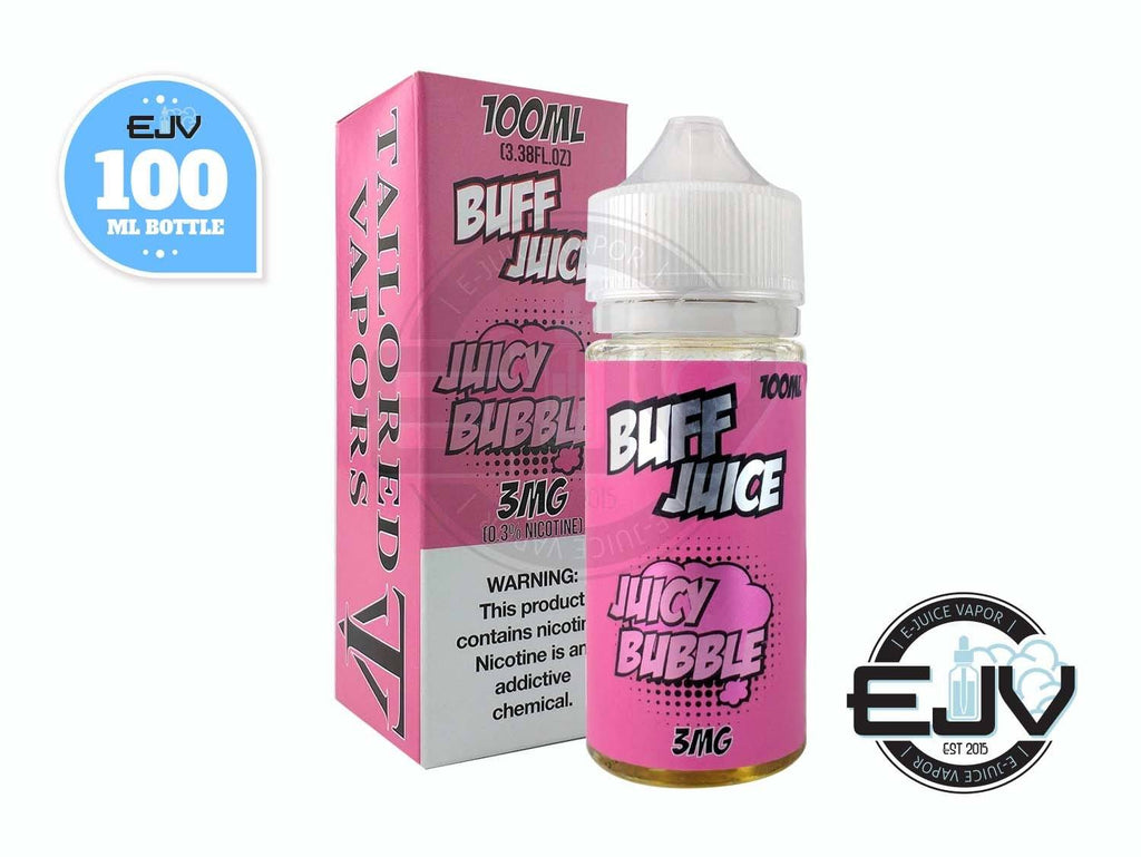 Juicy Bubble by Buff Juice 100ml Clearance E-Juice Buff Juice