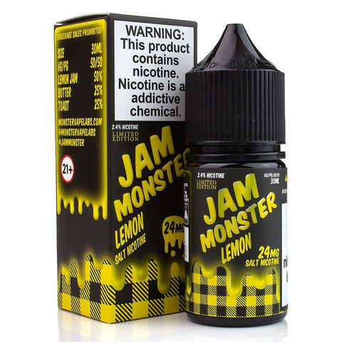 Lemon by Jam Monster Salt Nicotine 30ml Nicotine Salt Jam Monster Salt