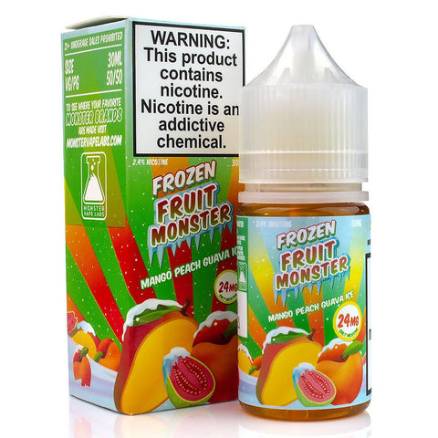 Mango Peach Ice by Frozen Fruit Monster Salt 30ml Nicotine Salt Frozen Fruit Monster Salt