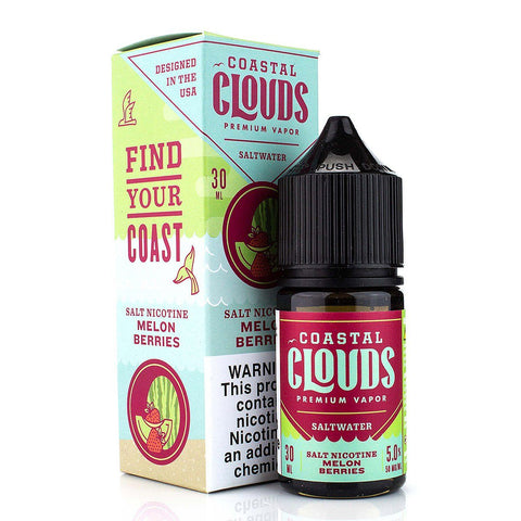 Melon Berries by Coastal Clouds Salt 30ml Nicotine Salt Coastal Clouds Salt