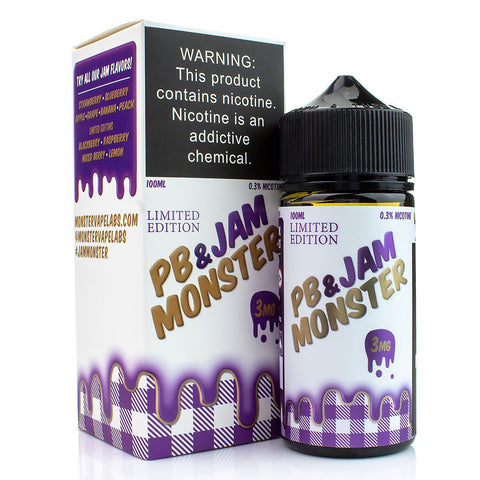 PB & Jam Grape by Jam Monster 100ml E-Juice Jam Monster