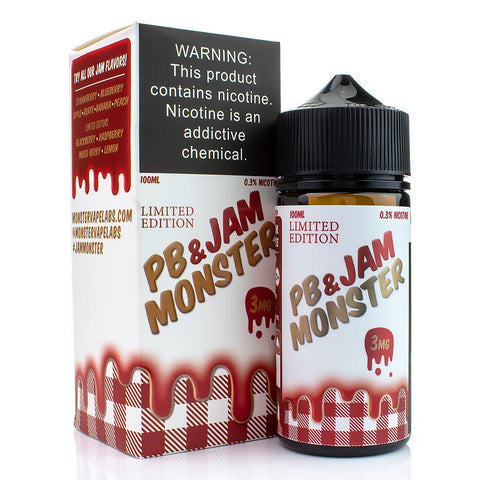 PB & Jam Strawberry by Jam Monster 100ml E-Juice Jam Monster