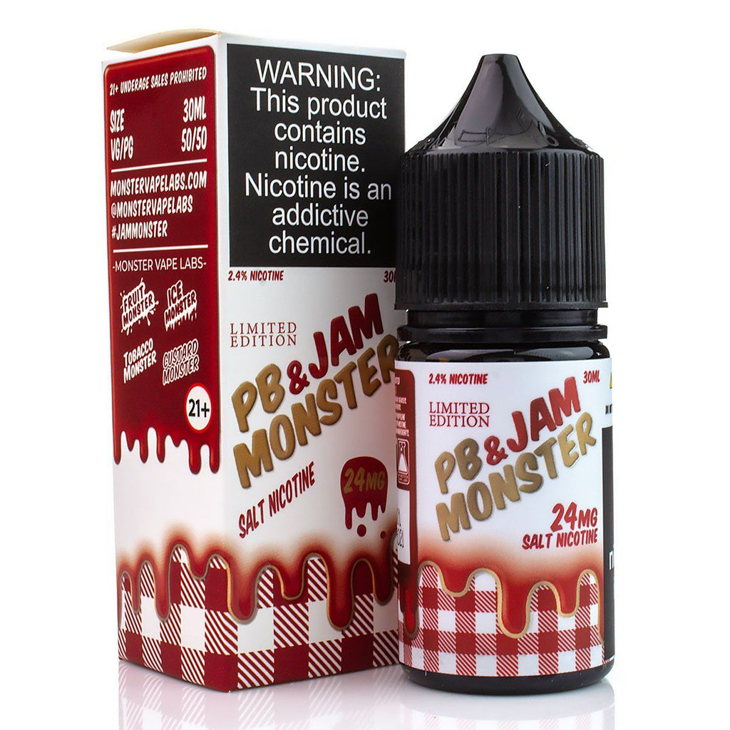 PB & Jam Strawberry by Jam Monster Salt Nicotine 30ml Nicotine Salt Jam Monster Salt