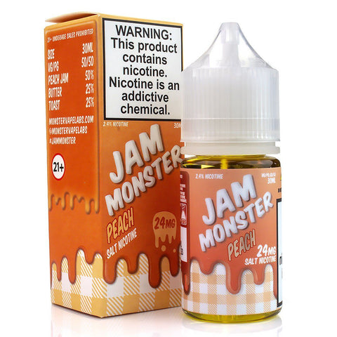 Peach by Jam Monster Salt Nicotine 30ml Nicotine Salt Jam Monster Salt