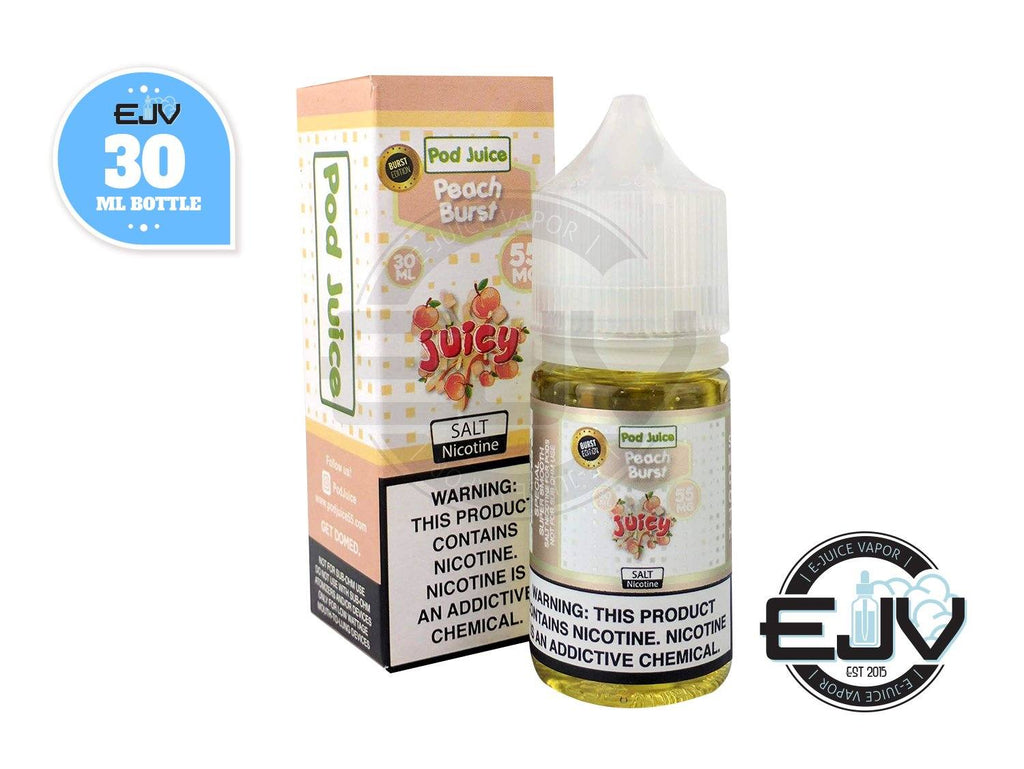 Peach Burst by Pod Juice 30ml Nicotine Salt Pod Juice